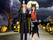 Jeu d'halloween : un couple à habiller