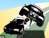 Crazy police car : course poursuite