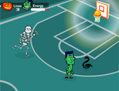 basket et action : Spooky Hoops