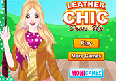 Leather chic dressup