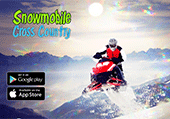 course en motoneige :snowmobile cross country